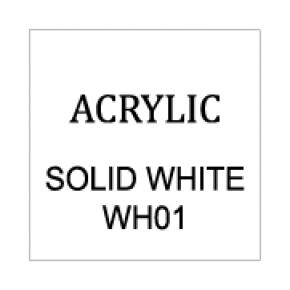 Solid White Rectangle 6mm