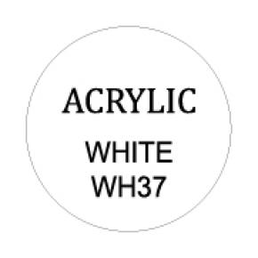Opaque White Round 8mm