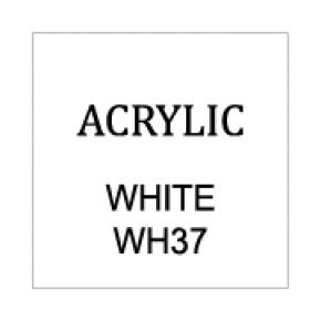 Opaque White Rectangle 8mm