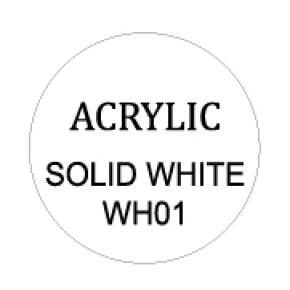 Solid White Round 8mm